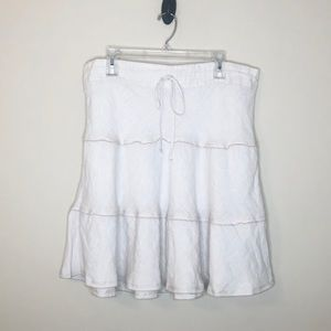 Caslon linen skirt - beige tan size large